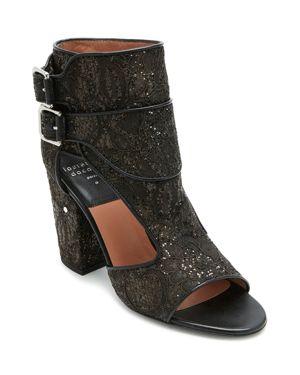 Laurence Dacade Women's Rush Glitter Lace Block Heel Sandals