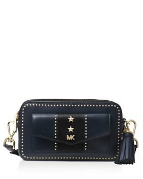 MICHAEL Michael Kors - Small Pocket Studded Leather Camera Bag