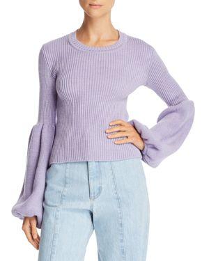 KSENIA SCHNAIDER Poet-Sleeve Sweater - 100% Exclusive in Lilac