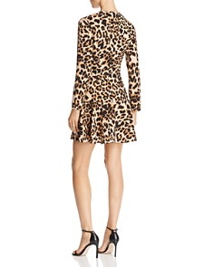 AQUA - Flounce-Hem Leopard Print Dress - 100% Exclusive