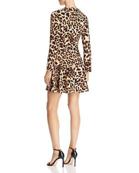 AQUA - Flounce-Hem Leopard Print Dress - 100% Exclusive