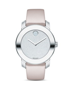 Movado BOLD - Bold Blush Leather Strap Watch, 36mm