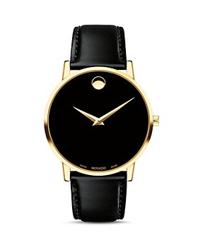Movado - Museum Classic Yellow Gold-Tone Case Watch, 40mm