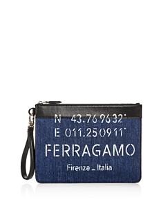 Salvatore Ferragamo - Tessuto Denim Wristlet