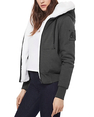 Moose Knuckles HER BUNNY HOODED FLEECE JACKET