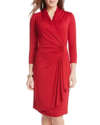 Karen Kane Cascade Faux Wrap Dress Bloomingdales