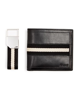 Bally - Key Fob & Leather Bi-Fold Wallet Gift Set