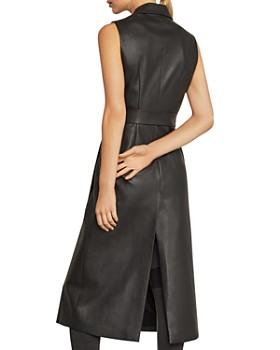 BCBGMAXAZRIA - Draped Faux Leather Vest