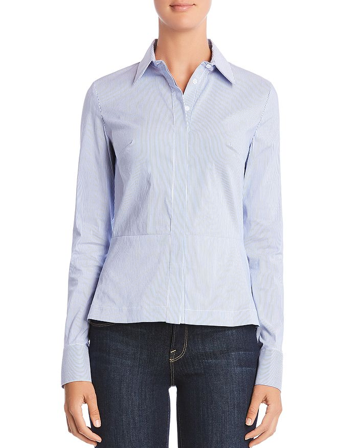 Bailey 44 - Bette Lace-Up Back Striped Shirt
