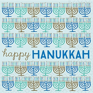 Design Design Happy Hanukkah Paper Napkins, Set of 20