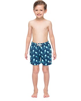 TOM & TEDDY - Boys' Octopus-Print Swim Trunks - Little Kid, Big Kid