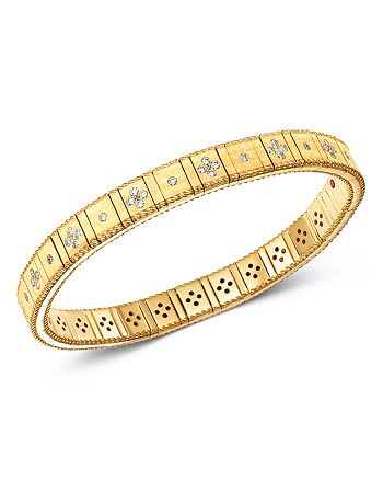 Roberto Coin - 18K Yellow Gold Princess Diamond Bracelet