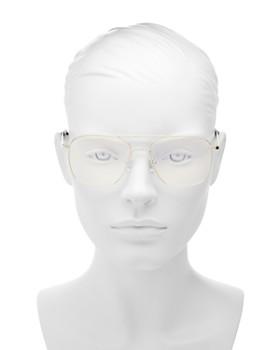 The Book Club - Women's Bored of the Flings Brow Bar Aviator Blue Light Glasses, 55mm