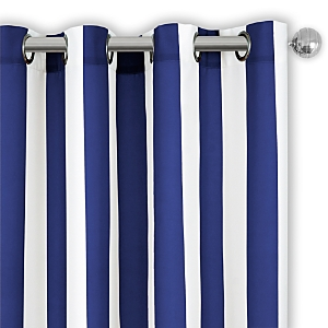 Elrene Home Fashions Aiden Stripe Indoor/Outdoor Curtain Panel, 50 x 84