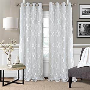 Elrene Home Fashions Bethany Geometric Overlay Blackout Curtain Panel, 52 x 95
