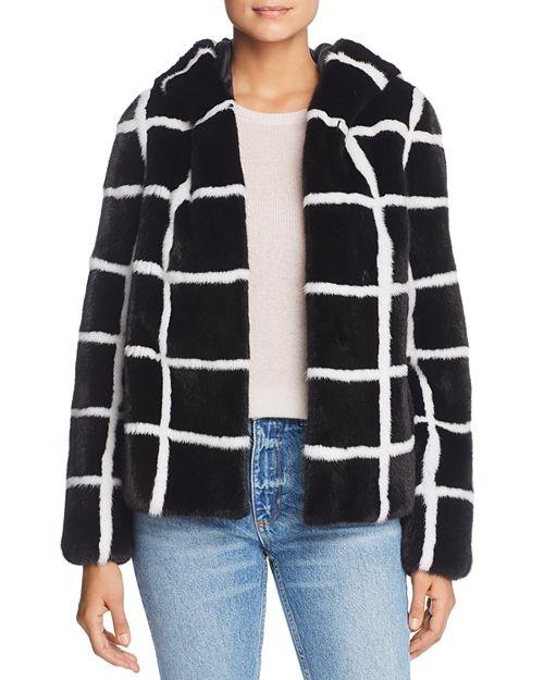 Maximilian Furs - x Norman Ambrose Hooded Mink Fur Coat