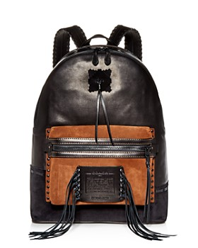 COACH - 1941 Whipstitch League Leather & Suede Backpack