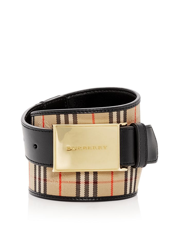 Burberry - Charles Plaque Buckle 1983 Check Belt