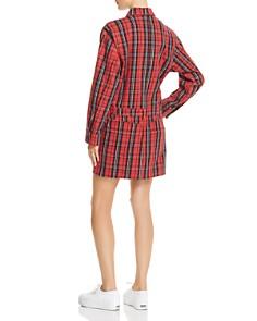 Current/Elliott - Plaid Denim Shirt Dress