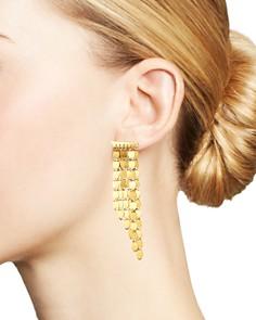Moon & Meadow - 14K Yellow Gold Six-Row Drop Earrings - 100% Exclusive