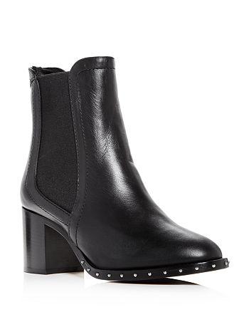 Jimmy Choo - Women's Merril 65 Leather & Shearling Block-Heel Booties