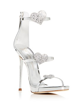 Giuseppe Zanotti - Women's Swarovski Crystal Heart Strappy High-Heel Sandals