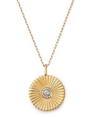 Adina Reyter 14K Yellow Gold Rays Diamond Large Pendant Necklace, 20