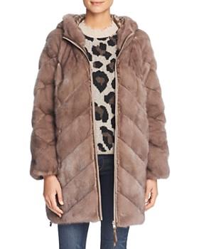 Maximilian Furs - Reversible Mink Fur Down Coat - 100% Exclusive