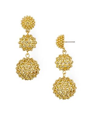 Aqua Textured Sphere Drop Earrings - 100% Exclusive