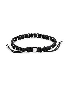 Tateossian - Macrame Silver Disc Bracelet