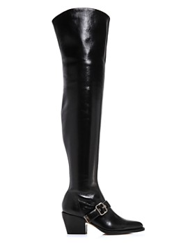 Chloé - Women's Rylee Pointed Toe Tall Leather Boots