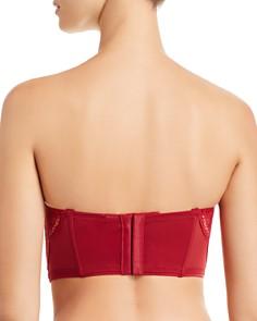 Calvin Klein - CK Black Crackled Lace Lightly Lined Strapless Bra