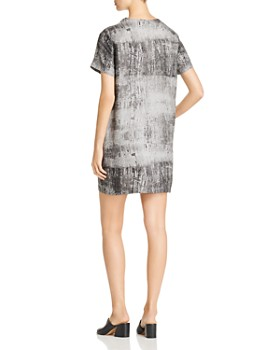 Kenneth Cole - Metallic Print Shift Dress
