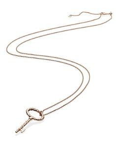 "Pandora - Regal Key Rose Gold Tone Pendant Necklace, 35.4"""