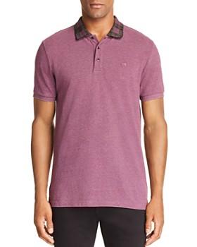 Scotch & Soda - Plaid-Collar Regular Fit Polo Shirt