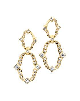 Gumuchian - 18K Yellow Gold Secret Garden Diamond Earrings