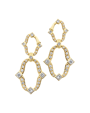 18K Yellow Gold Secret Garden Diamond Earrings