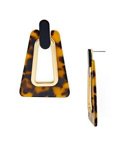 Rebecca Minkoff - Trapezoid Resin Drop Earrings