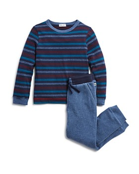 Splendid - Boys' Striped Tee & Terry Jogger Pants Set - Little Kid