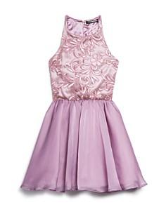 Miss Behave - Girls' Josie Floral-Embroidered Dress - Big Kid