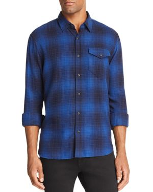 JACHS NY Plaid Regular Fit Button-Down Shirt in Blue/Navy