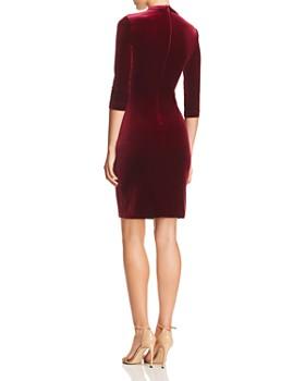c68f09852146 ... BCBGMAXAZRIA - BCBGMAXAZRIA Choker-Neck Velvet Dress