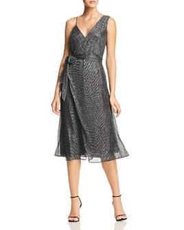 Keepsake - Now and Then Asymmetric Metallic Dress