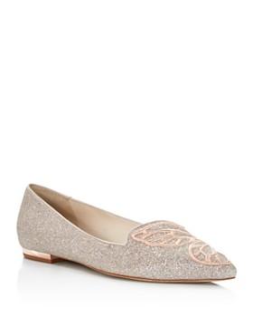 Sophia Webster - Women's Bibi Butterfly Pointed Toe Leather Flats