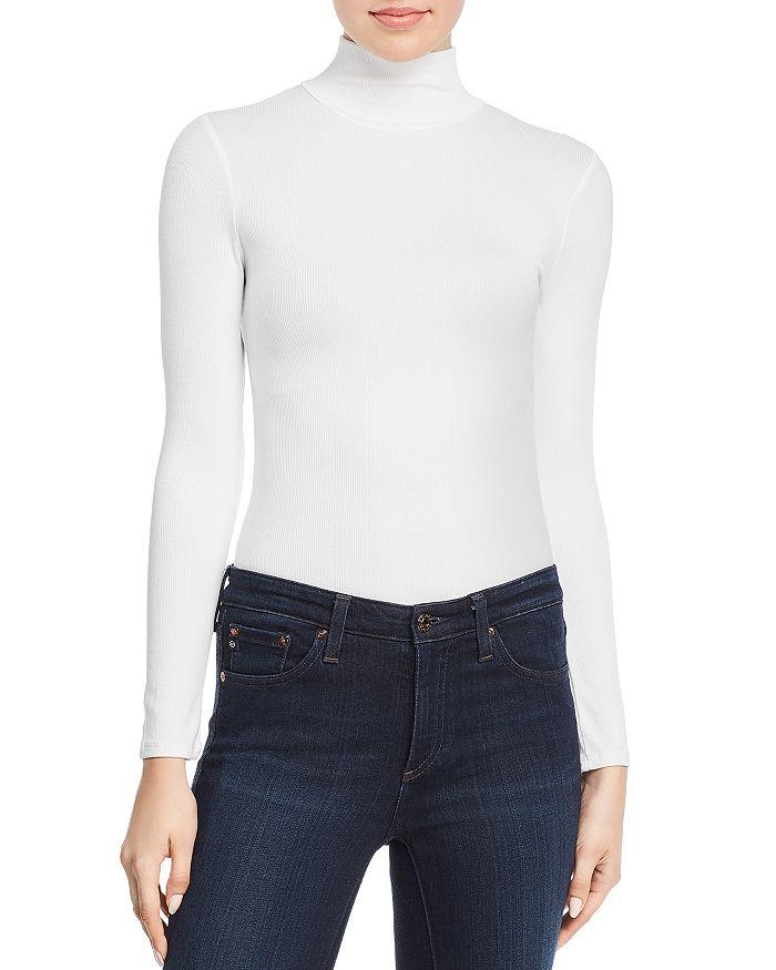 N Philanthropy Brooke Turtleneck Bodysuit In White