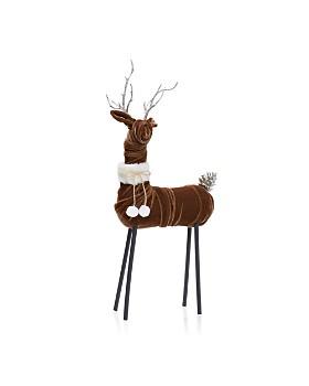 bloomingdales brown velvet deer figurine 100 exclusive