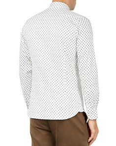 Ted Baker - Floral Print Regular Fit Button-Down Textured Shirt