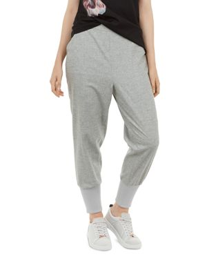 Ted Says Relax Haanah Woven Jogger Pants in Light Gray