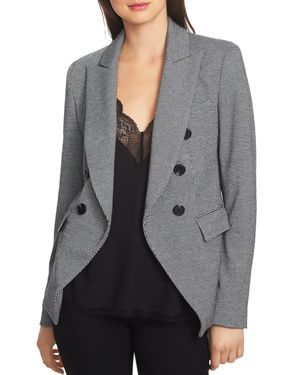 1.state Printed Knit Double-Breasted Blazer