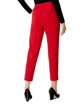 KAREN MILLEN - Button Detail High-Waist Cropped Pants